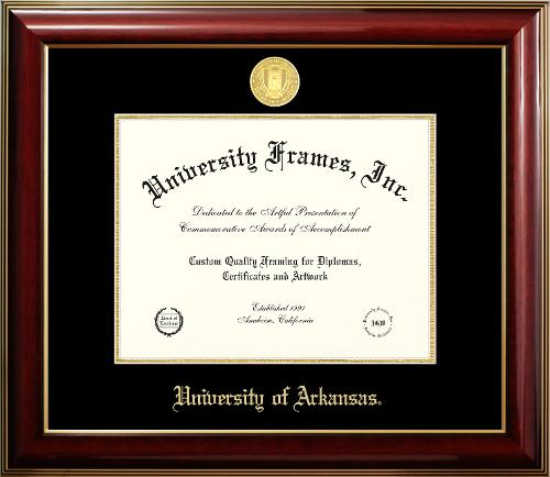 University of Arkansas Classic Mahogany Gold Trim Diploma Frame