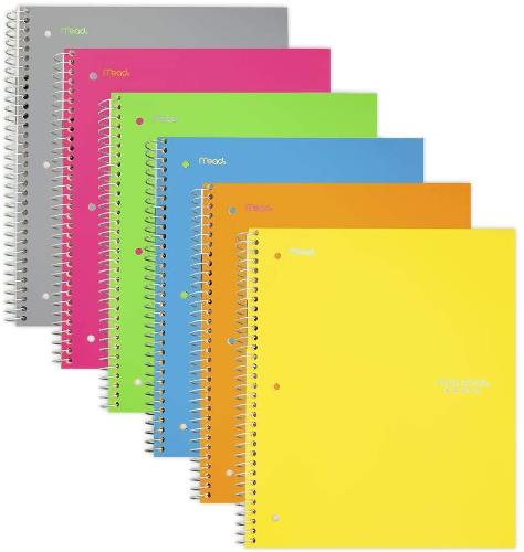 Five Star 3-Sub College Ruled Notebook- 1 Notebook