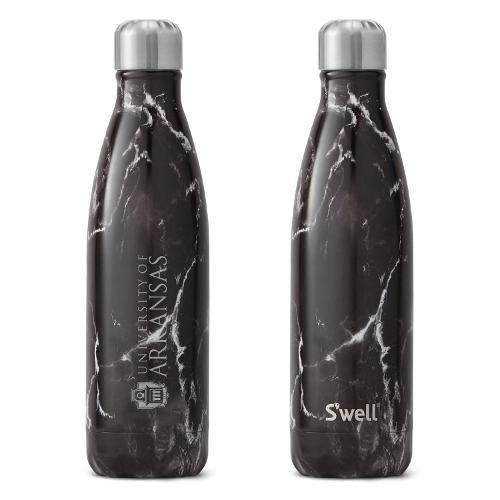 University of Arkansas S'well 17oz Bottle- Black Marble