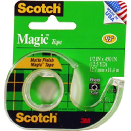 Scotch Magic Tape Clear .5in x 450in
