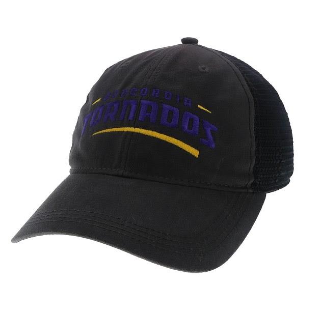 Black Waxed Trucker Hat