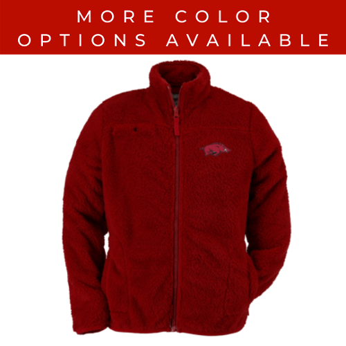 Arkansas Razorback Toddler Running Hog Sherpa Jacket - Red & Black