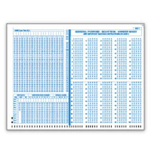 Scantron General Purpose Form 4521 (Big Blue)