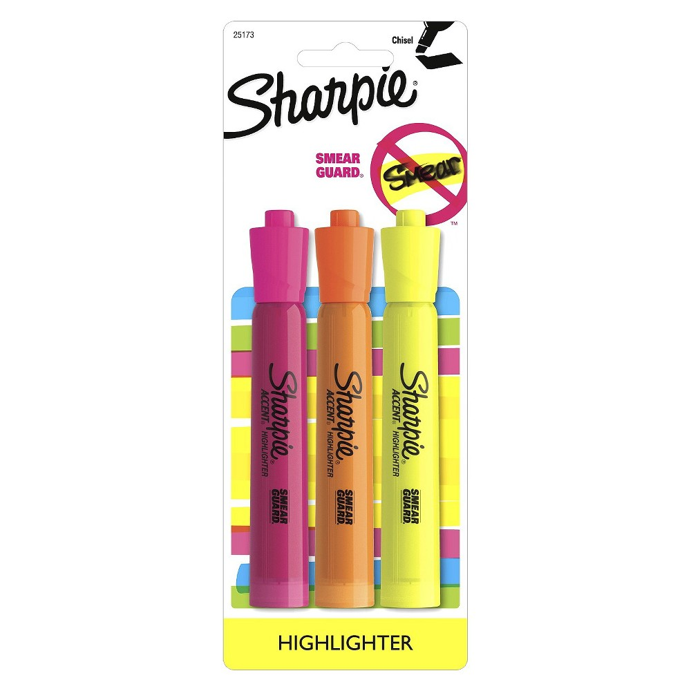 image of: 3 PK MULTICOLOR HIGHLIGHTER