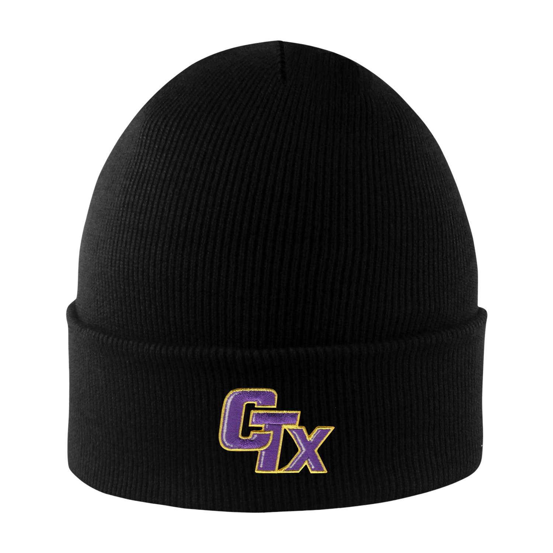 Cuffed Knit Hat - Black