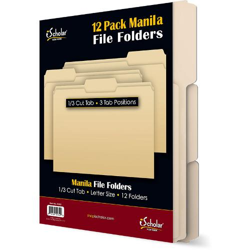 Manila Folders 12ct