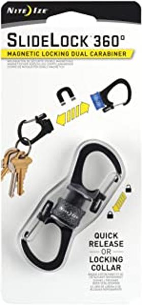 SlideLock® 360° Magnetic Locking Dual Carabiner