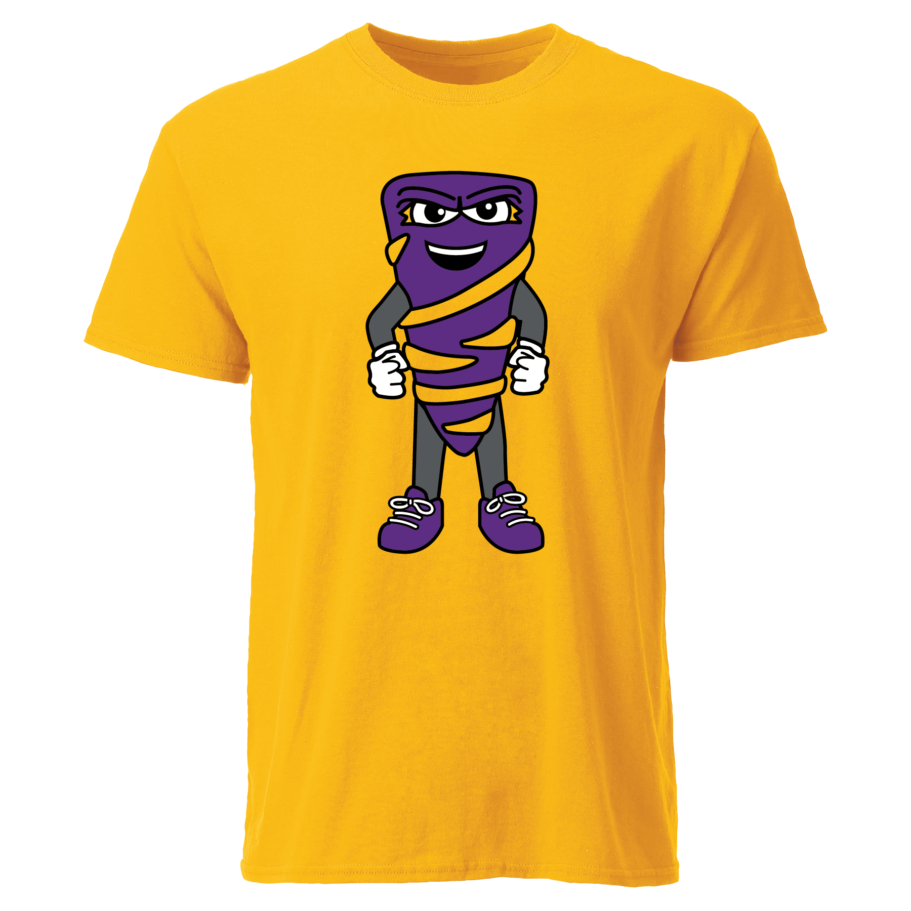 Tornado Mascot Tee - Athletic Gold