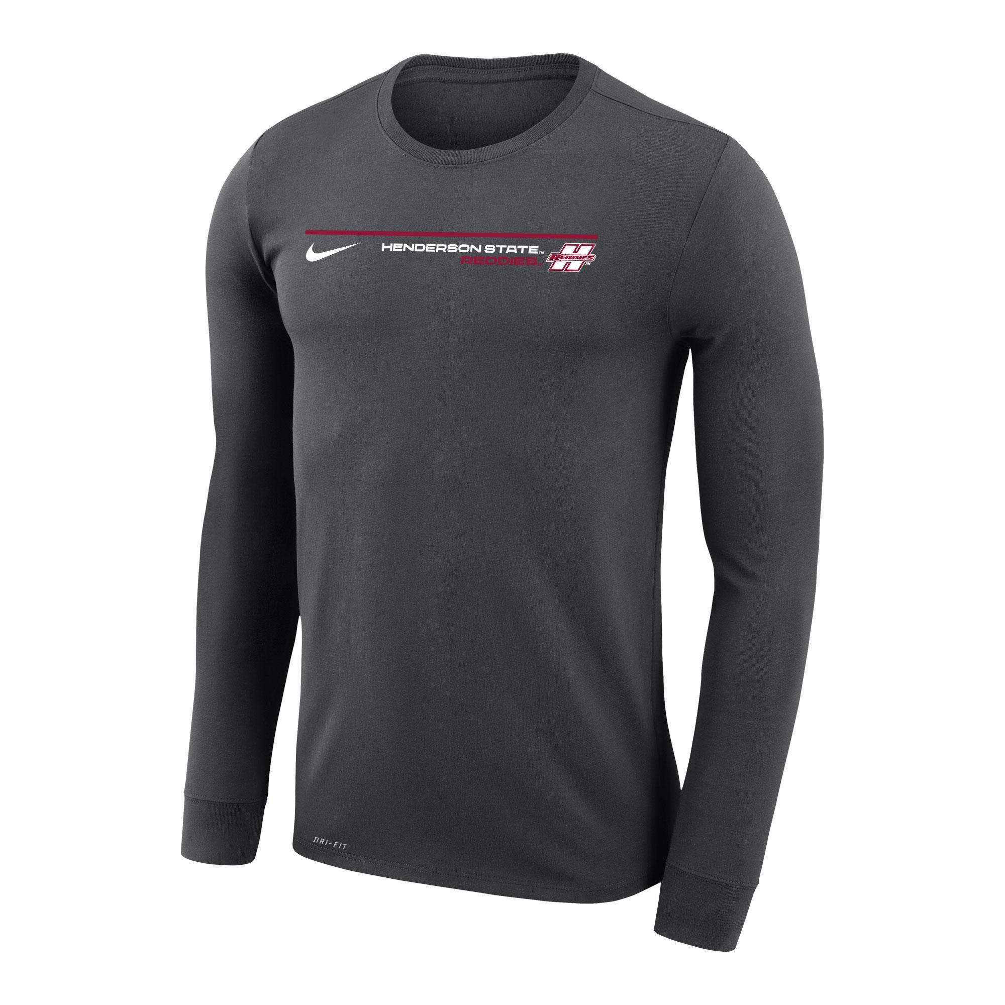 image of: Henderson State Reddies Nike Dri-Fit Legend Long Sleeve T-Shirt