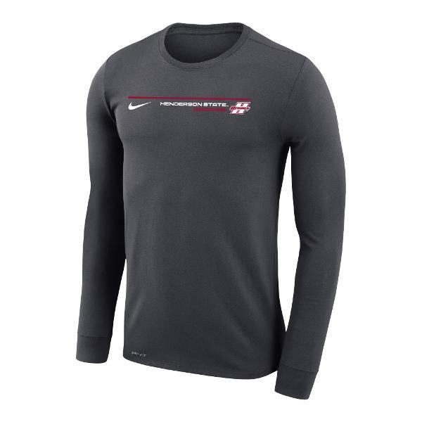 Henderson State Reddies Nike Dri-Fit Legend Long Sleeve T-Shirt