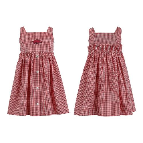 Arkansas Razorbacks Toddler Jillian Gingham Dress - Cardinal