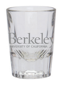 2oz Berkeley Primary Logo Shot Glass