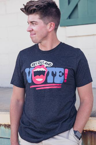 Get Out and Vote SS Tee - Black Charcoal