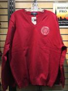 Image for the Clubhouse V-Neck Sweater in Crimson product