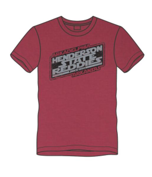 Henderson State Reddies Galaxy Short Sleeve T-Shirt