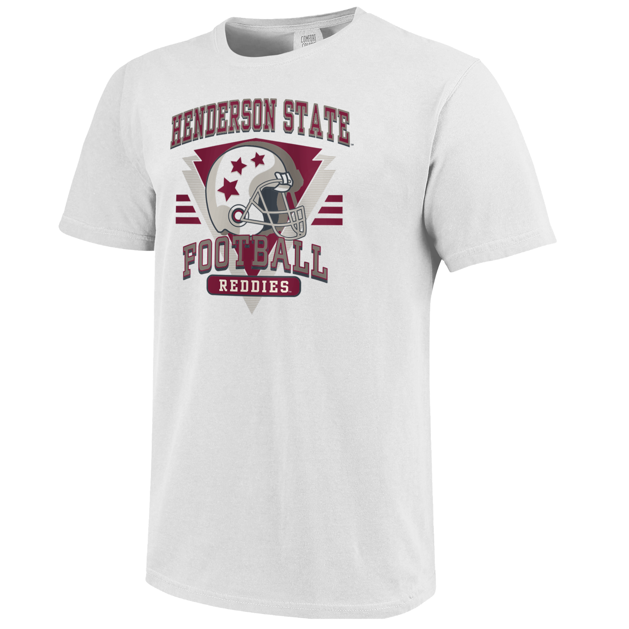 image of: Henderson State Football Retro Helmet Short Sleeve T-Shirt