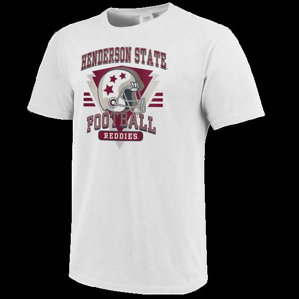 Henderson State Football Retro Helmet Short Sleeve T-Shirt