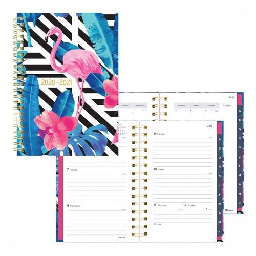 Academic Weekly Planner 2020-2021 Flamingo