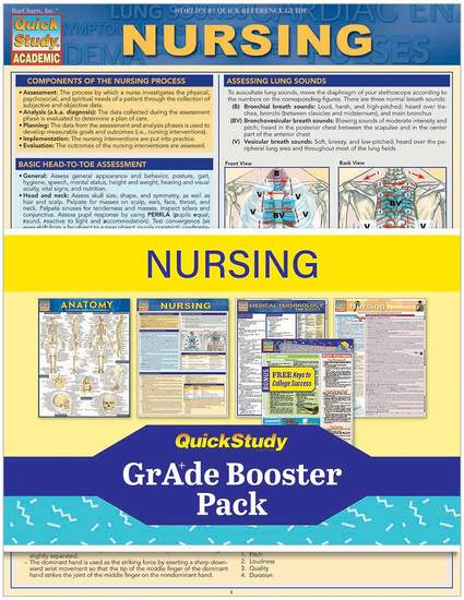 NURSING GRADE BOOSTER PACK- LAMINATED STUDY GUIDE
