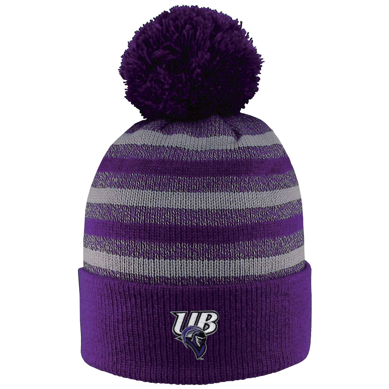 image of: UB Striped PomPom Hat