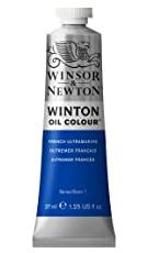 image of: Winton Oil Paint 37ml Tube: French Ultramarine