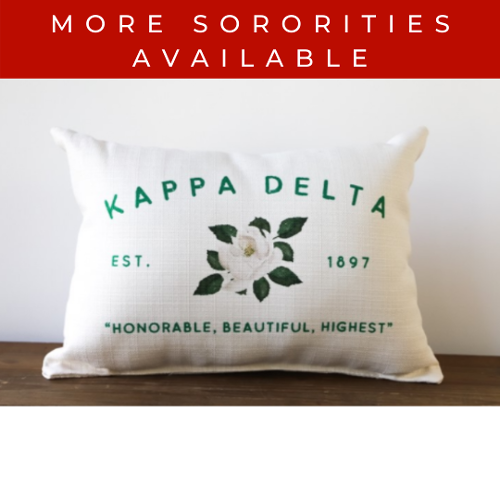 Sorority Pillow with Flower Est