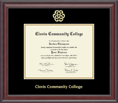 image of: Gold Engraved Gallery Diploma Frame