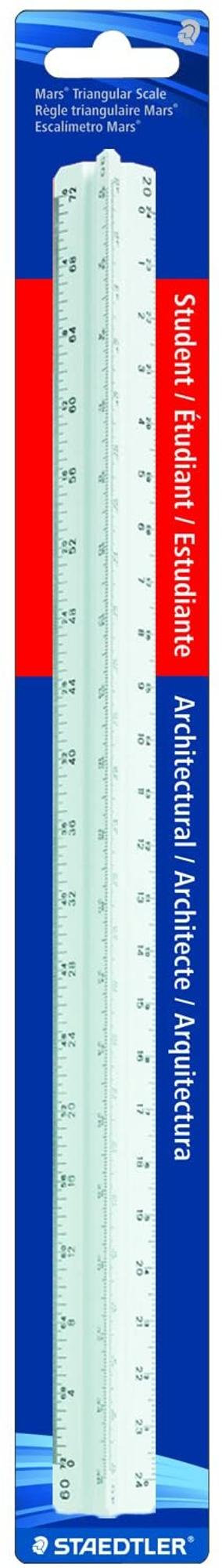 image of: Staedtler STD9871931BK Architects Printed Scale