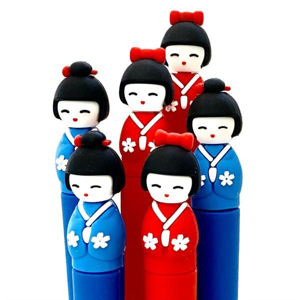 bcmini Kimono Doll Gel Pen Assorted