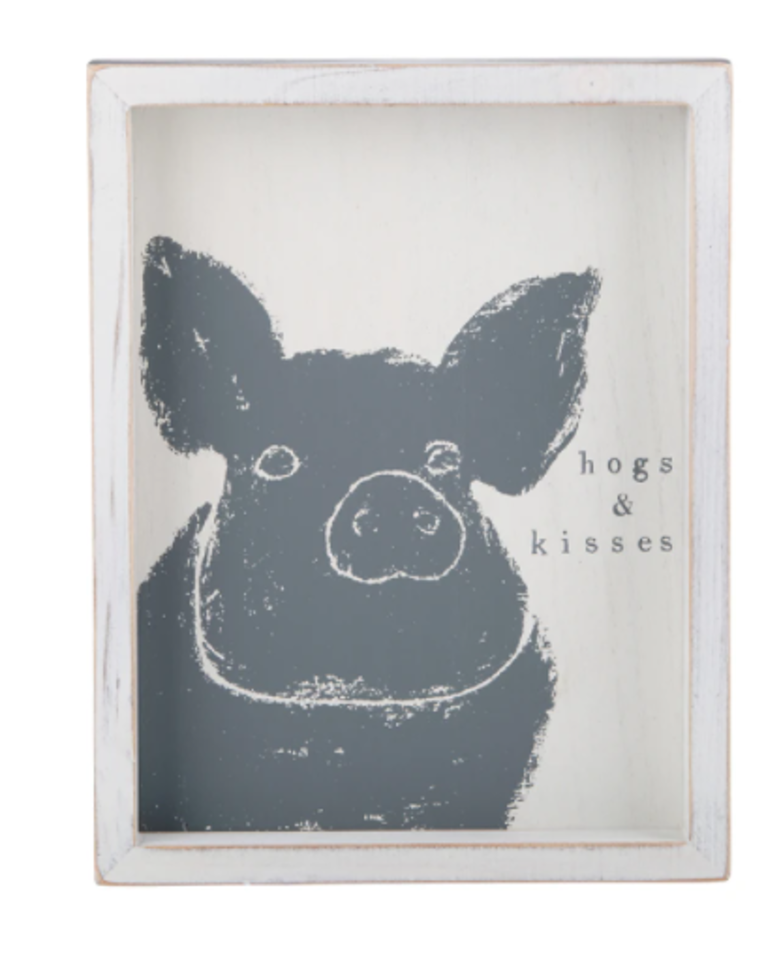 Image for Glory Haus Hogs and Kisses Framed Board