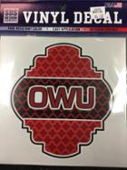 Image for the Quatrefoil shield w/OWU Vinyl Decal 6'' product