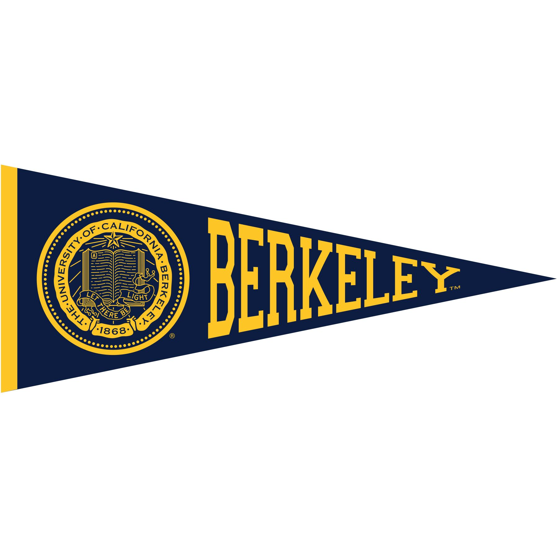 Magnet Pennant 6in Seal Berkeley