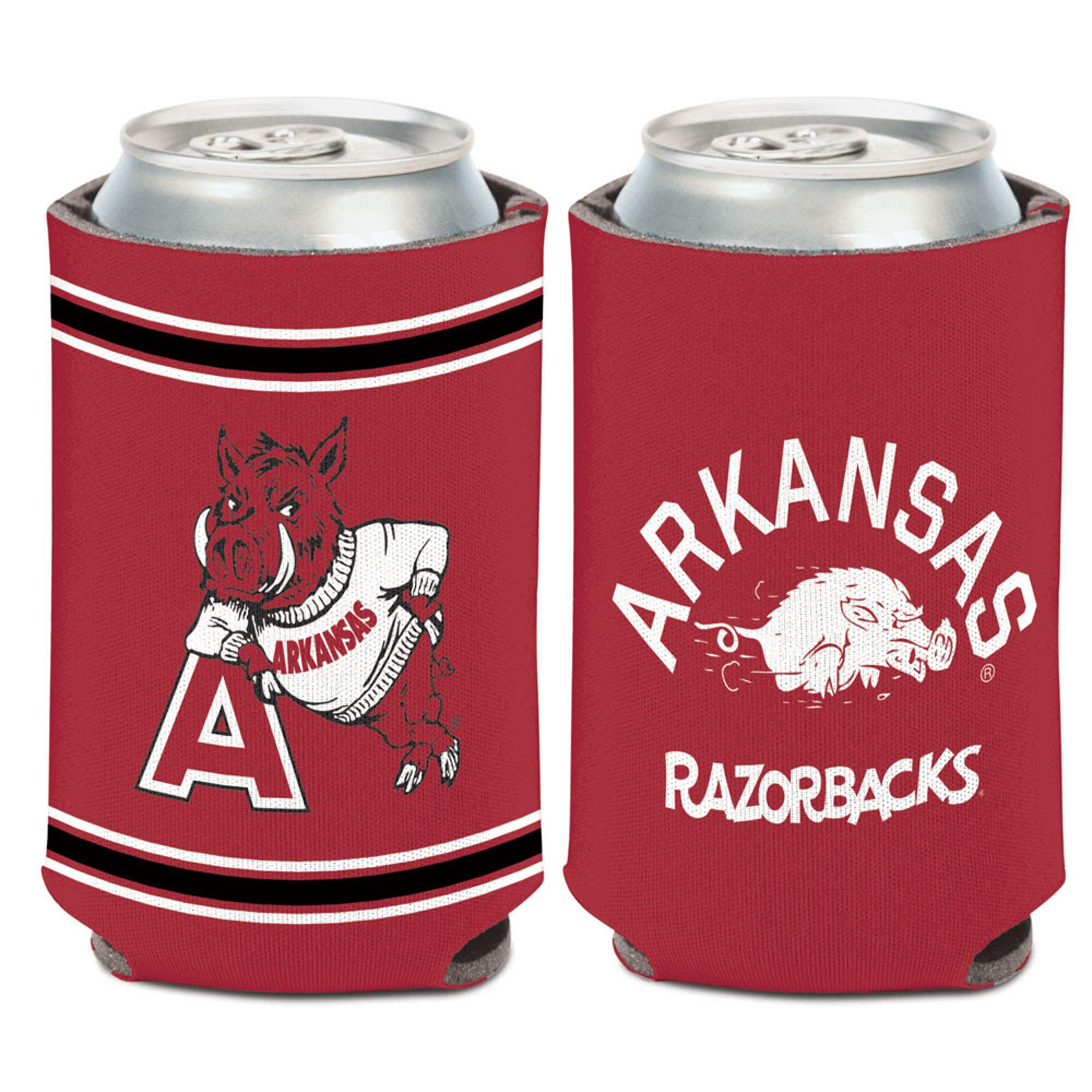 Image for Arkansas Razorbacks Vintage Logos Can Koozie