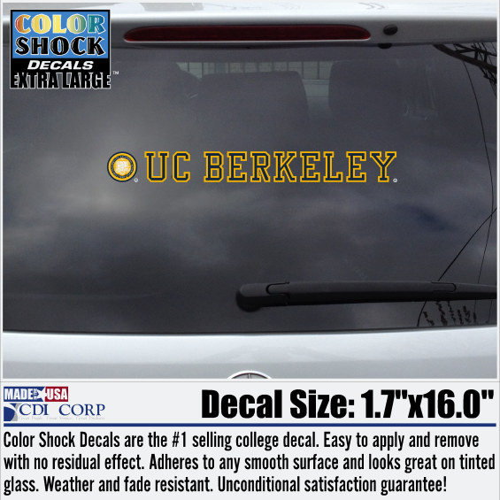 Color Shock Decal Seal UC Berkeley