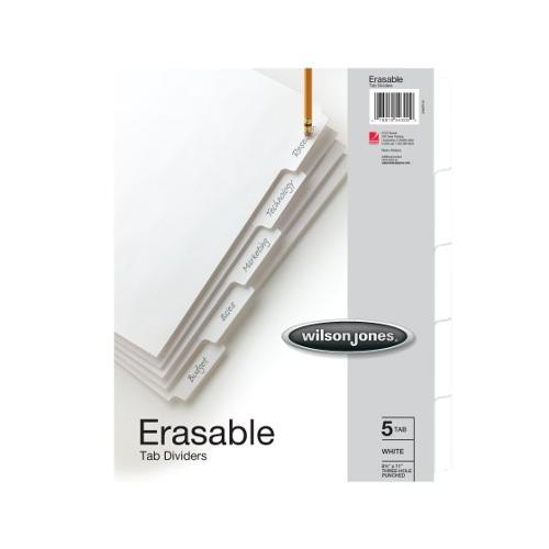 Erasable Tab Dividers 5 Tab