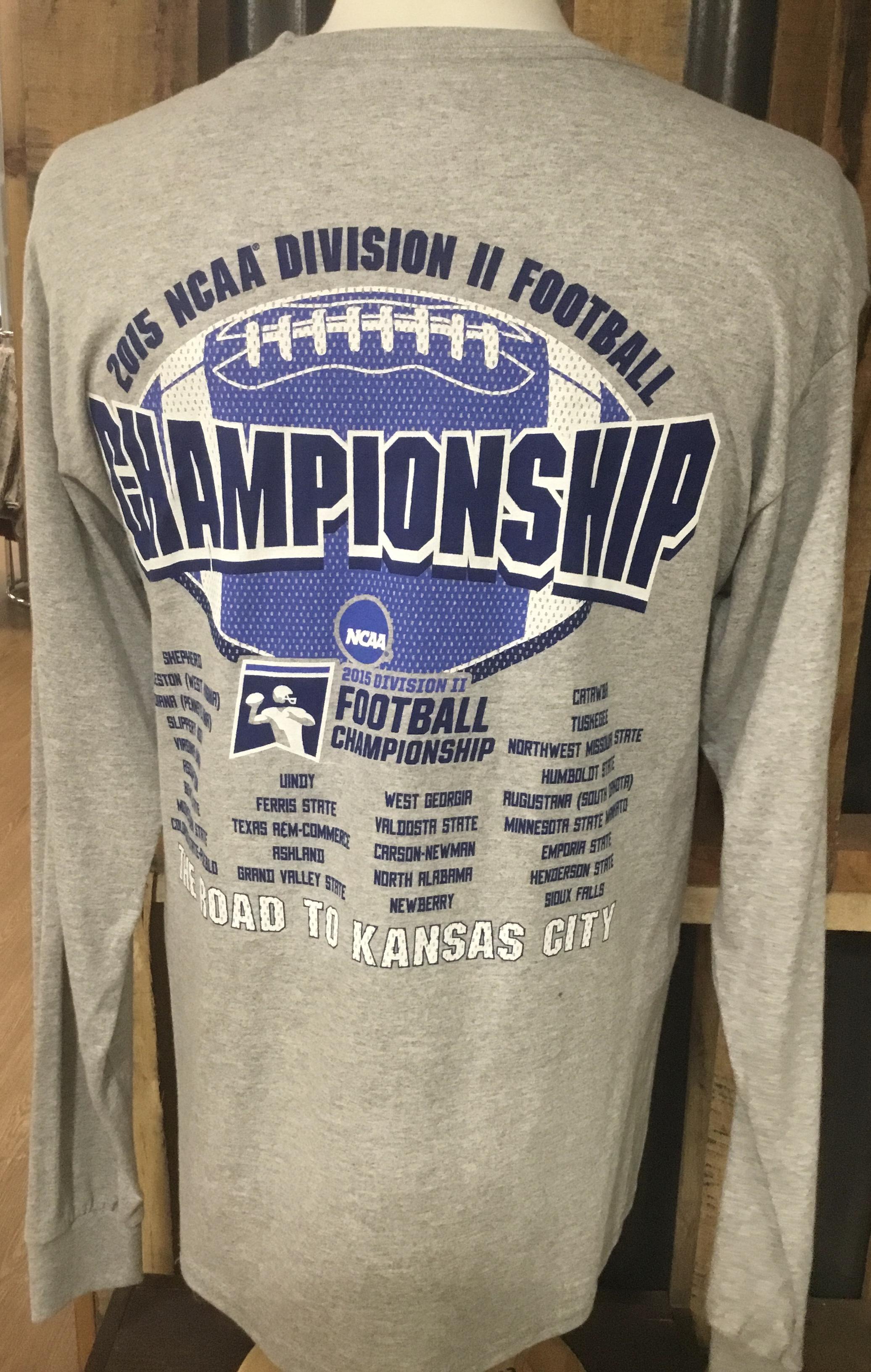 image of: 2015 NCAA DIVISION II FOOTBALL CHAMPIONSHIP LONG SLEEVE T-SHIRT