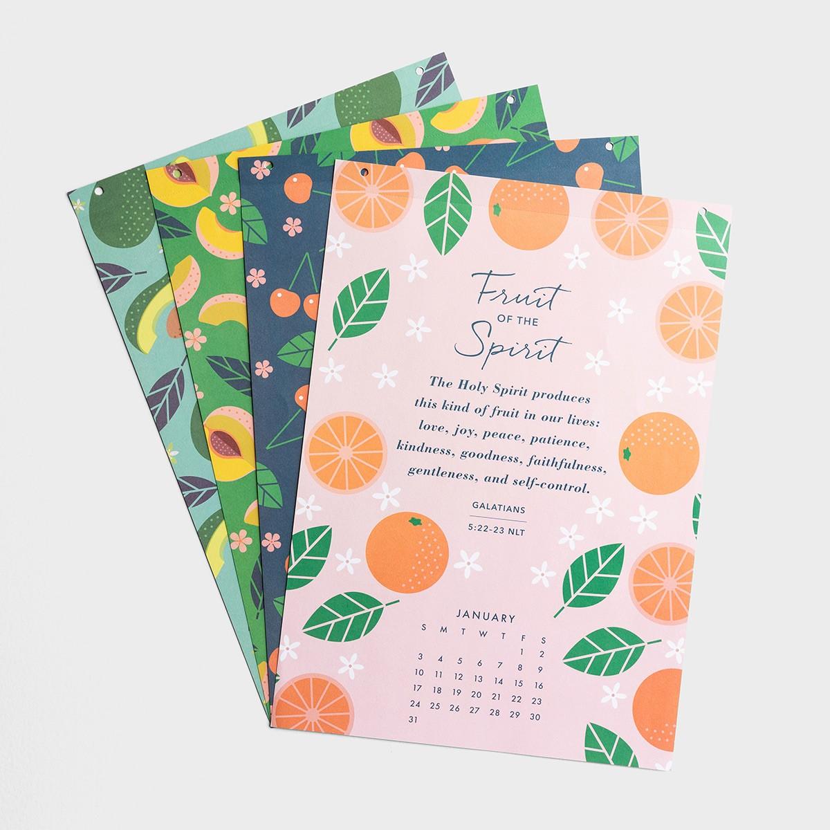 image of: DaySpring Fruit of the Spirit - 2021 Wood Strip Wall Calendar