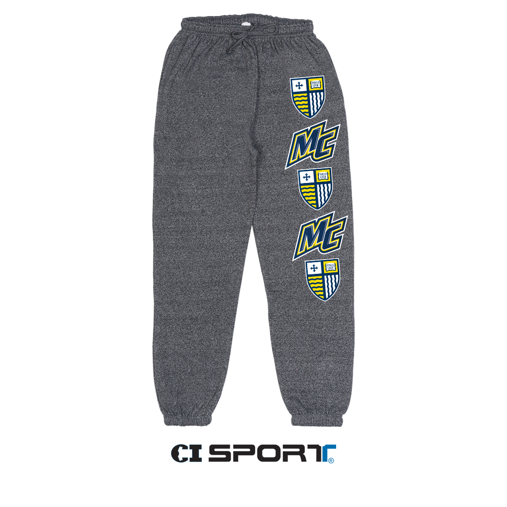 Scrunch Bottom Marled Sweatpants