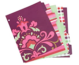 image of: 5 DECORATIVE TAB DIVIDERS