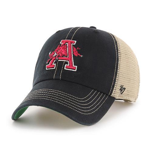 Arkansas Razorbacks '47 Brand Vintage Black Trawler Hog Thru A Hat
