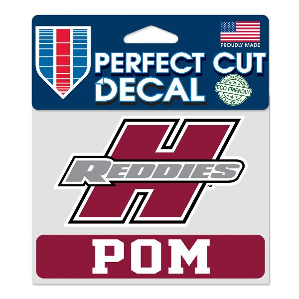 "Henderson Reddies 4"" x 5"" Pom Perfect Cut Decal"