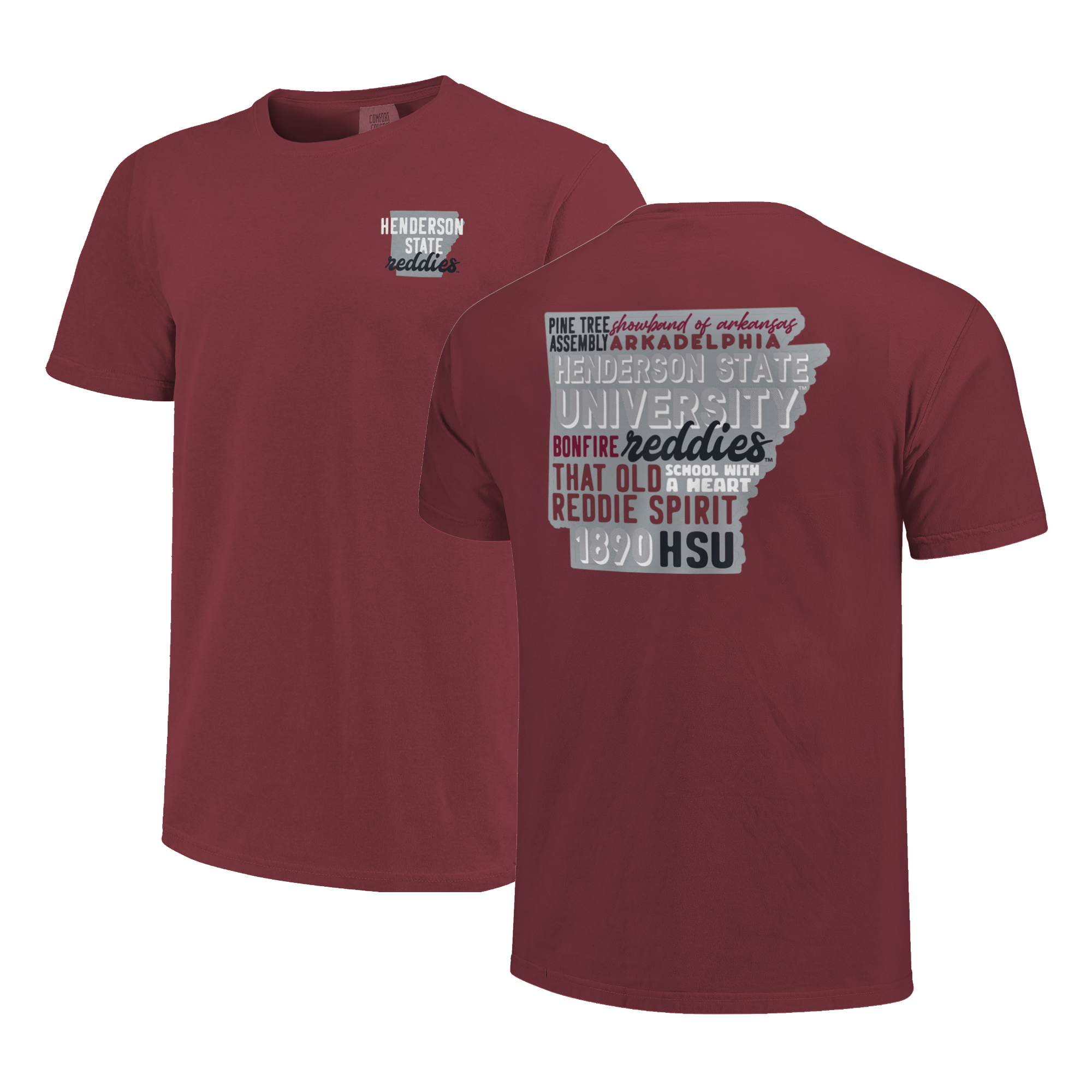 image of: Henderson State Reddies All Type State Short Sleeve T-Shirt