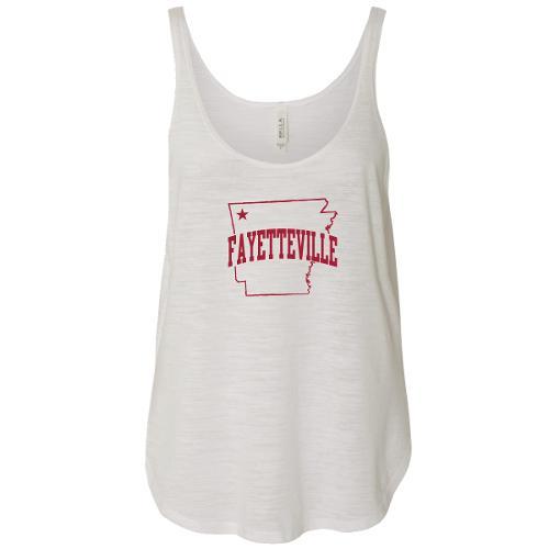 Fayetteville Camp David Flowy Tank - White