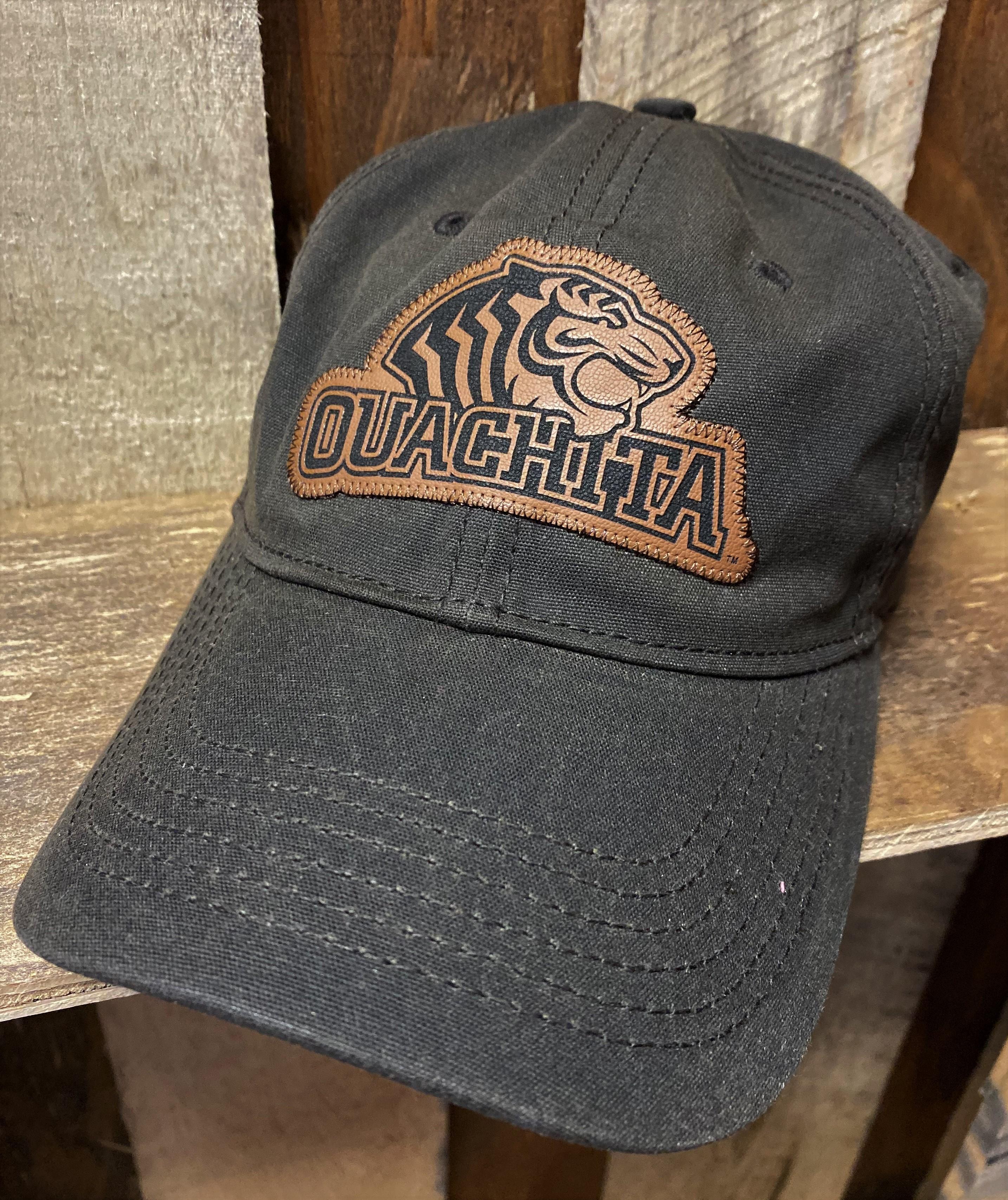 OUACHITA MASCOT LEATHER HAT