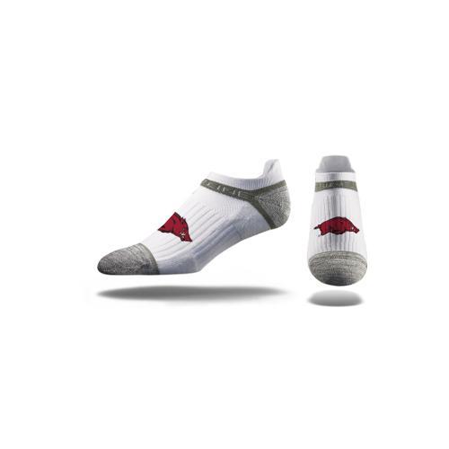 Arkansas Razorbacks Premium Low Cut Socks - White
