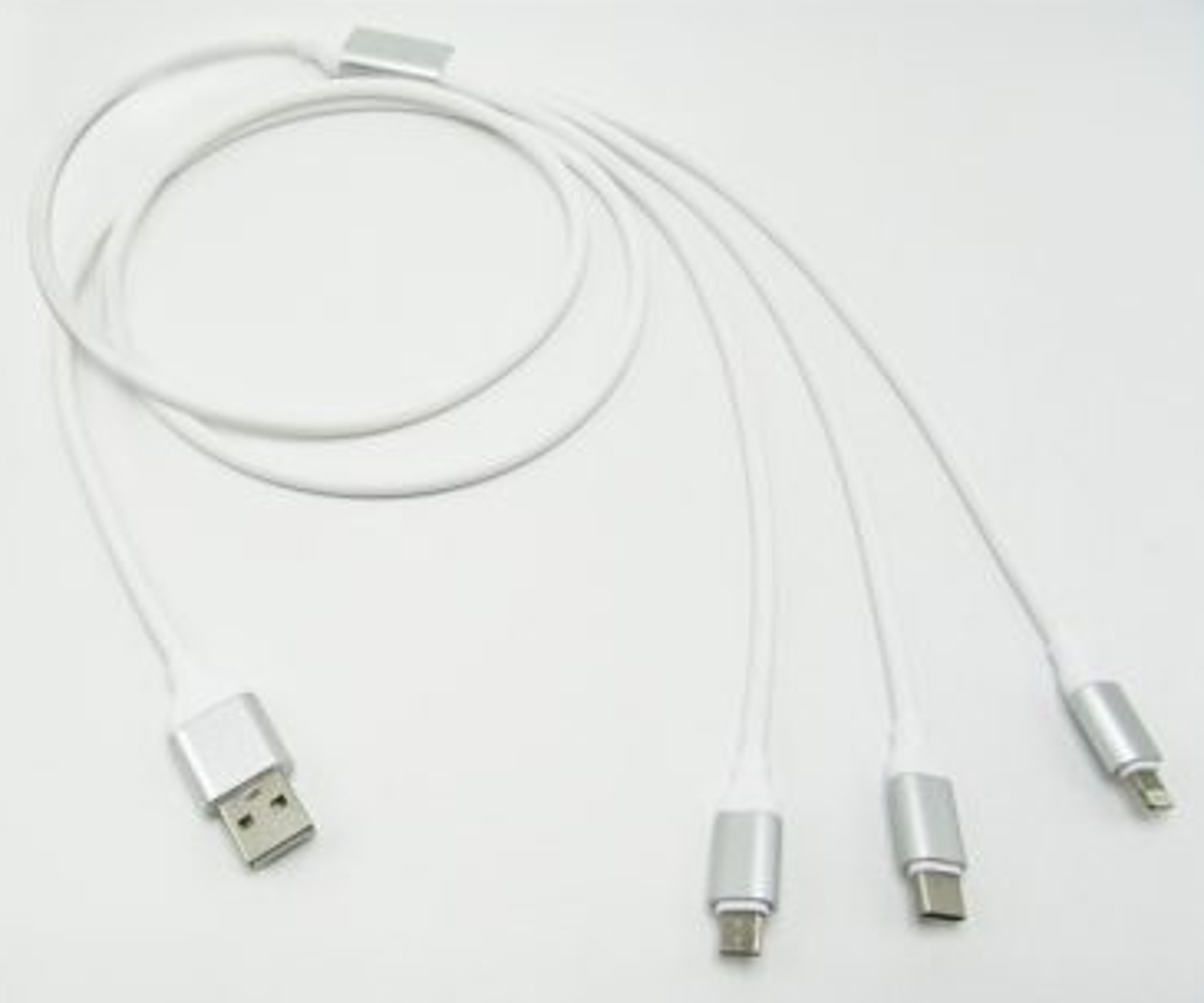 image of: 3 in 1 Universal Charging Cable – Lightning Compatible, USB C, Micro USB