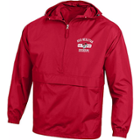 Image for the Unisex Quarter Zip Red Packable Jacket product