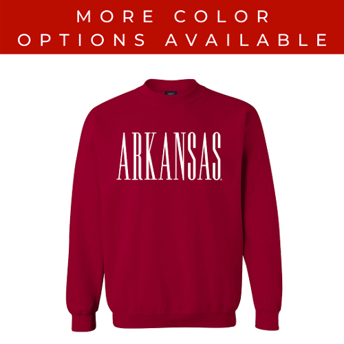 Arkansas Tall Letter Fundamental Crew Sweatshirt