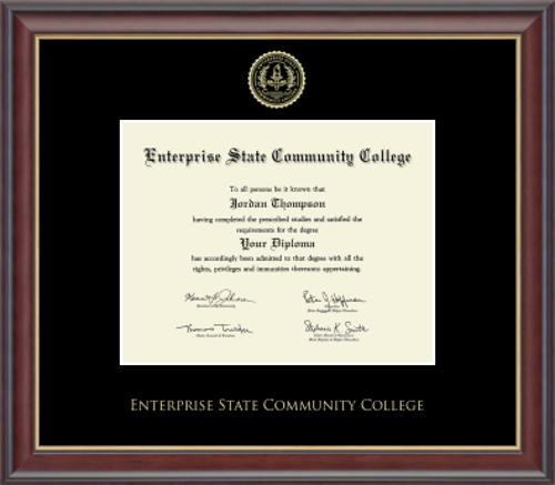 Gold Embossed Studio Gold Black Matting ESCC Diploma Frame