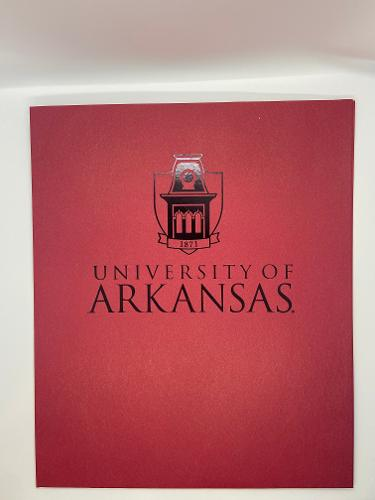 University of Arkansas Tower Folder - Crimson